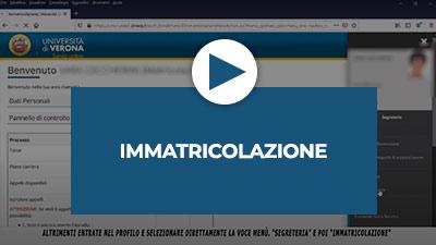 Video tutorial: Immatricolazione