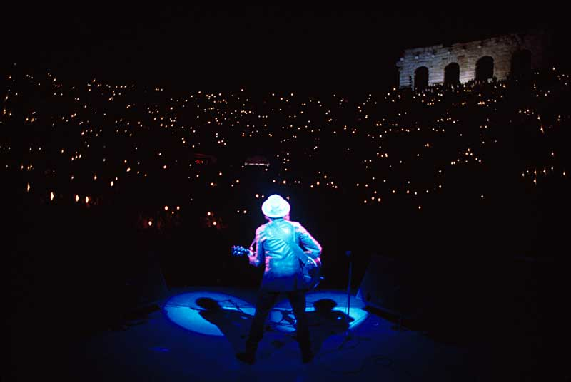 Guido Harari, Bob Dylan, Verona, Arena, 28 maggio 1984 © Guido Harari